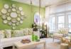 Desain Interior Ruang Tamu Nuansa Hijau Minimalis Untuk Lebaran